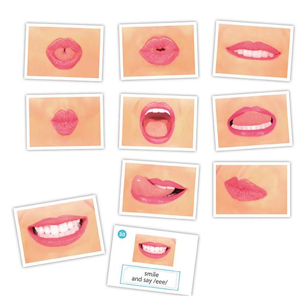 Logo-bits cards for oral motor speech...