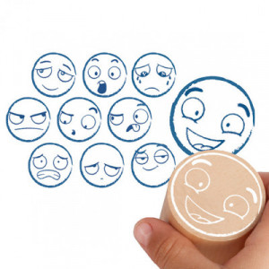 Maxi-stamps of the 10 emotions