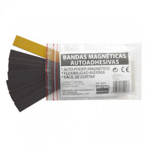 Adhesive magnetic bands