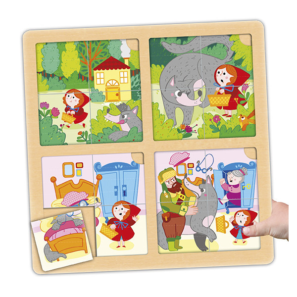 Set of puzzle-sequences: red riding...