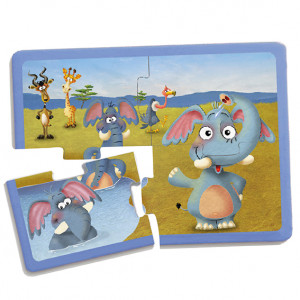 Set animal puzzles (9 units)