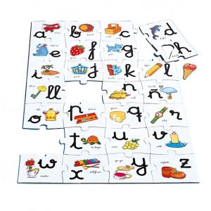 Macro puzzle abecedario